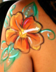 Tropical Body Painting Activities