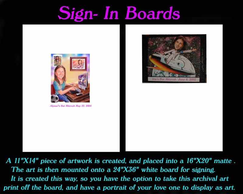 Sing-In Boards Caricatures